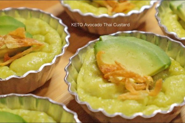Avocado thai custard