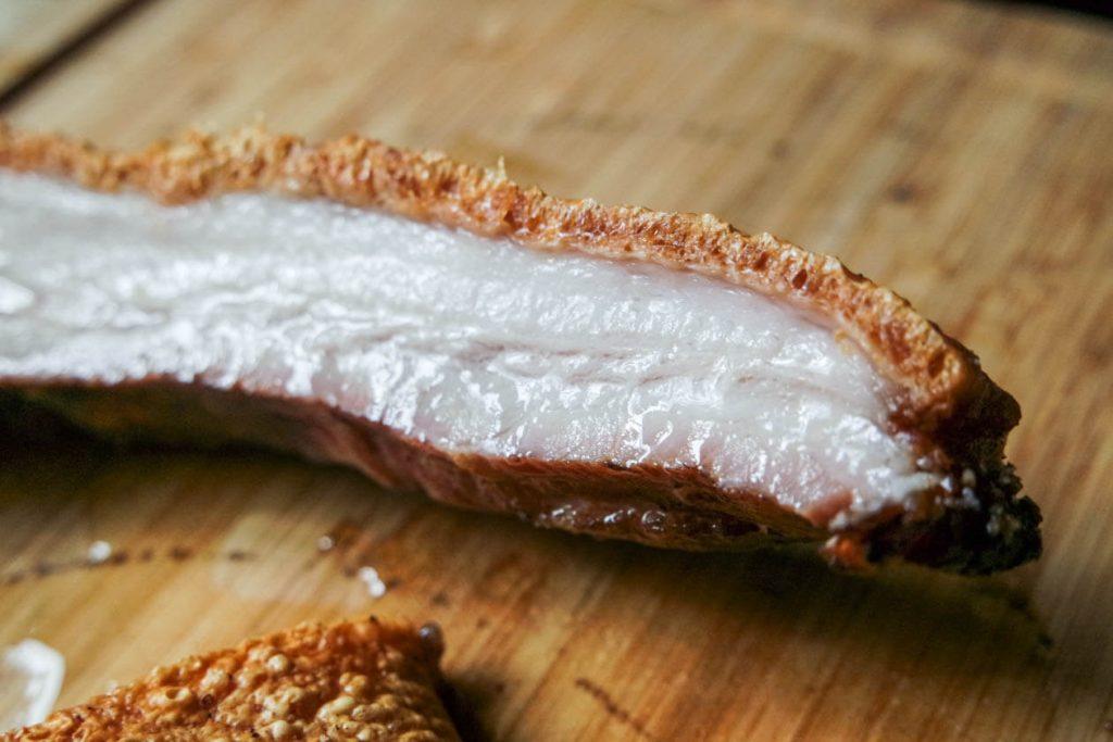Salted fried pork belly.